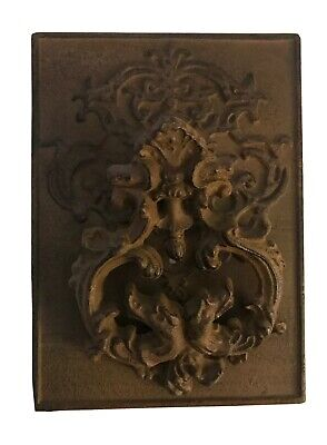 Cast Iron Antique Style  VICTORIAN SCROLL Door Knocker Brown 8 Inches Tall 6 W
