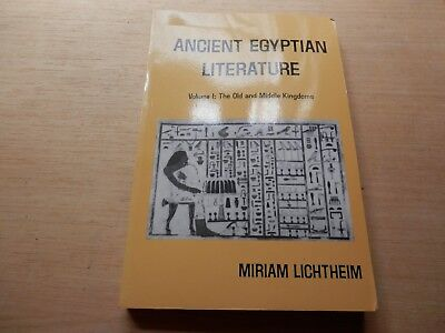 Ancient Egyptian Literature Old to Middle Kingdoms Lictheim Volume 1