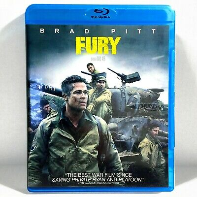 Fury (Blu-ray Disc, 2014, Widescreen, Inc. Digital Copy) Like New !   Brad Pitt