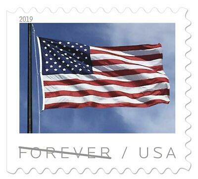 USPS Forever US Flag Postage Stamps - 50 Booklets of 20 - 1000 Stamps Total
