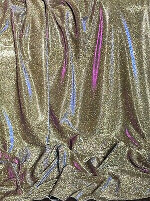 "3 Meter Copper Tone Sparkly Glitter Stretch Moonlight Fabric 58""Dress Backdrop"