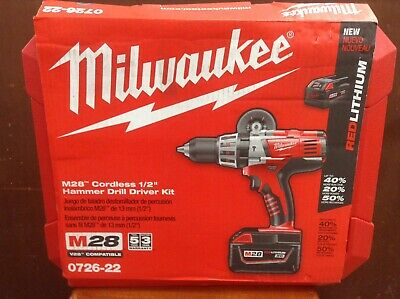 """NEW MILWAUKEE 0726-20 M28 28 VOLT CORDLESS 1//2/"""" HAMMER DRILL TOOL ONLY SALE"""