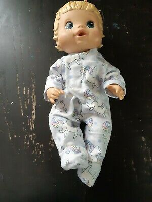 Homemade Little Baby Alive Unicorn Coverall Pyjamas for 33cm doll