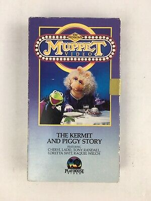 MUPPET VIDEO THE Kermit And Piggy Story HTF VHS Tape RARE ...