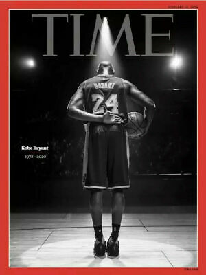 """Collector's Edition """"TIME MAGAZINE"""" Kobe Bryant 1978-2020 Final Bow On Court"""