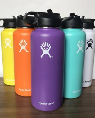 Hydro Flask Water Bottle Stainless Steel & Vacuum Insulated with Straw Lid -32OZ
