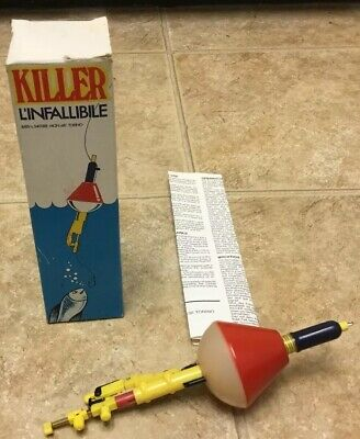 Vintage Killer L'infallibile Fishing Float With Box And Instructions Display