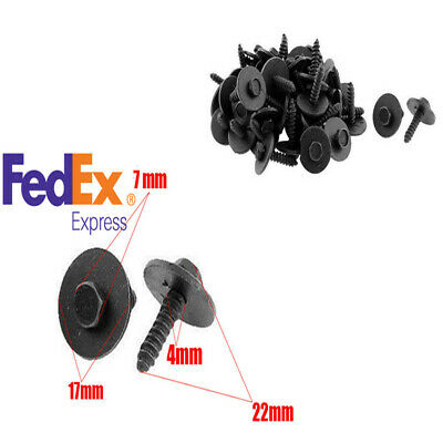 100Pcs Metal Sheet Screw Flange 17mm Washer Black Finish 7mm Hex 4.2-1.41x22mm