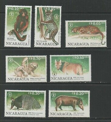 Thematic Stamps Animals - NICARAGUA 1991 F.A.O.ANIMALS 7v 3079/85 mint