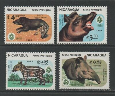 Thematic Stamps Animals - NICARAGUA 1984 WILDLIFE  PROTECT'N2636/9 4v mint