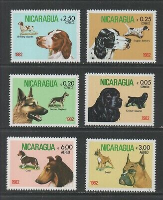 Thematic Stamps Animals - NICARAGUA 1982 DOGS 7v 2333/9 mint