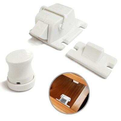concealed Magnetic Cabinet Locks-No Drilling-4 Locks+1 key
