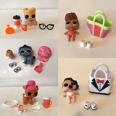 W LOL Surprise Doll Lot Of 5 DOLLS Lil Rip Tide Black Tie Baby Hoops Dogg Dog
