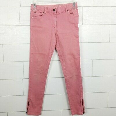 Stella McCartney Kids Jeans Girls 10y Pink Stretch Skinny Jeans Zipper Ankle