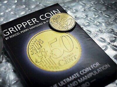 1 Gripper Coin (Single/Euro) Palming & Manipulation 50Cent Magic by Rocco Silano