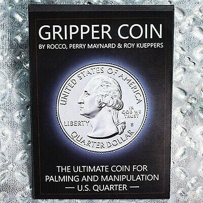 1 Gripper Coin (Single/U.S. 25) Palming & Manipulation Magic by Rocco Silano
