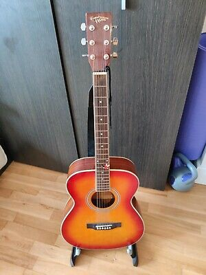 Guitar Full Size 6 String Steel String Acoustic red orange