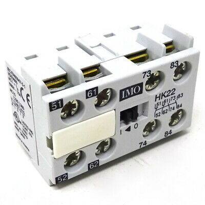 Auxiliary Contact HK22 IMO 2NO 2NC 2A *New*