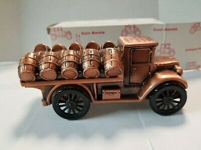 Banthrico Coin Bank 1928 BEER TRUCK w/box Meredith Village Savings Bank Promo