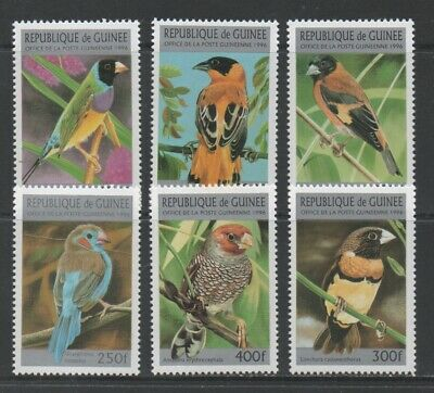 Thematic Stamps Animals - GUINEA REP 1996 BIRDS 6v 1691/6 mint
