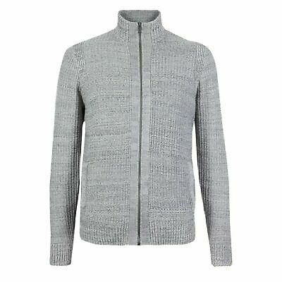 Mens Ex Marks & Spencer Pure Cotton Textured Knit Cardigan M&S Cardie Jacket