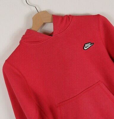 Girls Red Nike Hoodie Hooded Top 8 - 10 Years Original  : A240