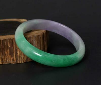 60g Fine Chinese Carved Natural Jadeite Jade Bracelet-63mm