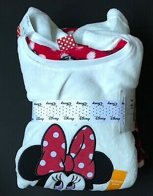 Primark Girls Fleece Pyjamas Disney Minnie White/Red Age 12-13 Years Bnwt