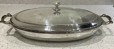 Rare W.A.S. Benson Silver Plated Tureen With Enamel Lining Arts & Crafts