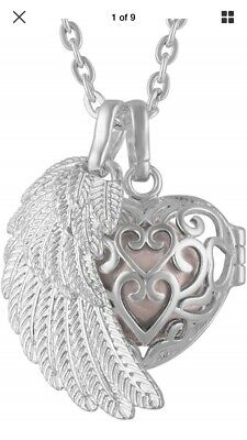 Stylish Silver Heart Locket Pendant Charm for Memories with Necklace Chain WN032