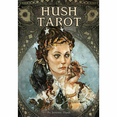 """Hush Tarot NEW Deck and Booklet Set by Jeremy Hush (2019) 3x4.5"""" Cards"""