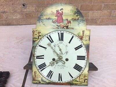 Antique Grandfather Clock Face, Movements, Weights And More