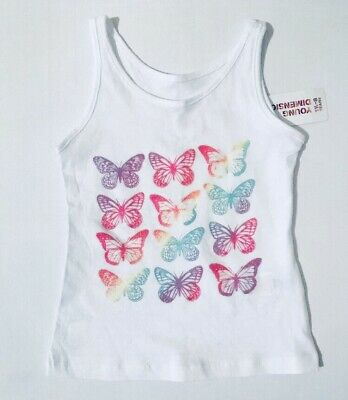 Young Dimension Girls White Vest Age 2-3 Years Sleeveless Summer Top NWT Primark