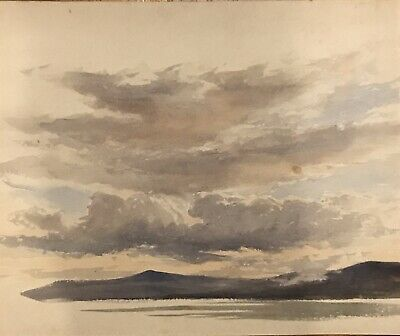 Early 20th Century Watercolour - Lake District ? Scotland - Beautiful Sky