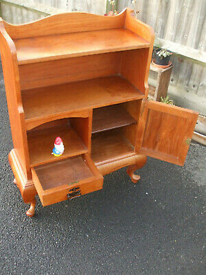 Antique Edwardian walnut bookcase, very solid, fast economy delivery