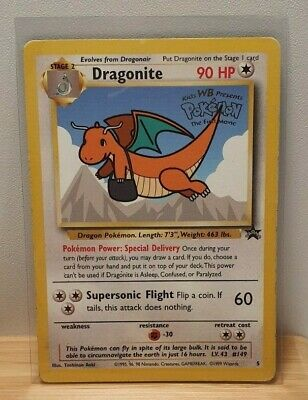 Dragonite Non Holo Foil No 5 Black Star Promo Pokemon TCG Card Moderate Play