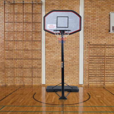 In/Outdoor Free Standing Adjustable Height Basketball Hoop Backboard Full Size