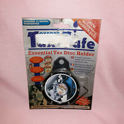 Oxford Tax Safe Essential Round Tax Disc Holder Motorcycle Black Colour New