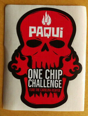TEN Paqui Limited Edition Skull Decal Stickers One Chip Challenge FREE SHIPPING!