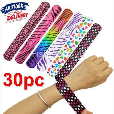 30x Wrist Snap Slap Bands Kids Party Favor Novelty Toy Gift for Child Wrist Band