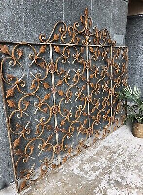 French Provincial Wrought Iron Architectural Antique Panel EntDriveway Gate