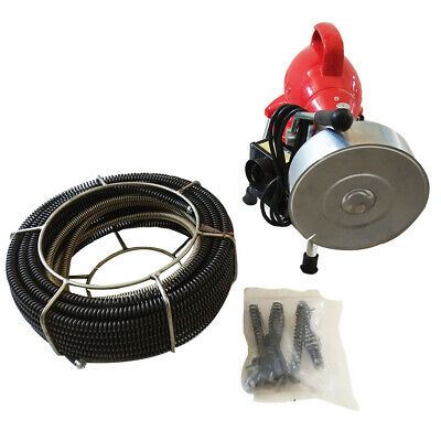 Intbuying110V Sectional Pipe Drain Cleaner Cleaning Machine Electric Snake Sewer