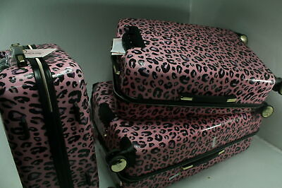 Juicy Couture Women Jane 3 Piece Hard Side Spinner Luggage Set Pink READ NOTES