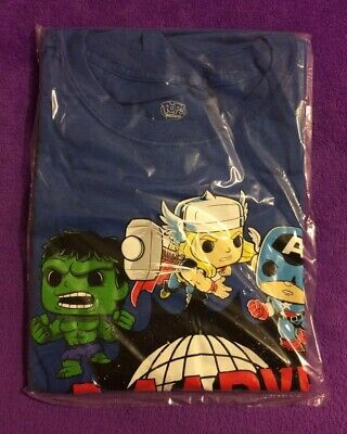 Funko Pop! Tee Marvel The Avengers 80 Years Size Large T shirt Target Exclusive