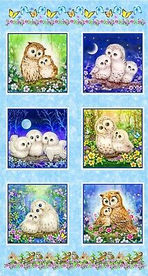 Epic Owls Quilt Panel * Owlets And Mamas * Digital * Free Post *