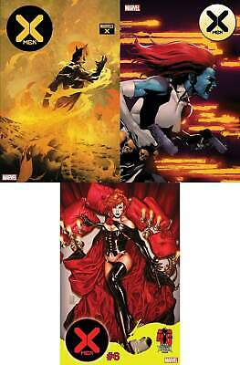 X-Men #6 DX 3 Variant Bundle (Marvel 2020) Brooks Dark Phoenix Tan Marvels X
