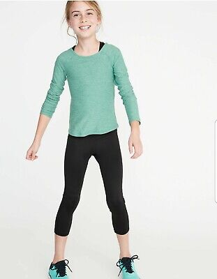Old Navy Active Crop Mid‐Rise go dry New W/ Tags Size L 10-12 Girls