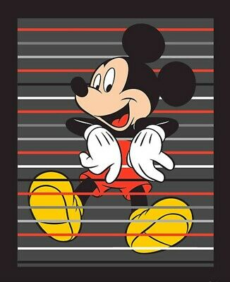 Disney Mickey Traditional Quilt Panel *  New * Free Post * Mouse Lines *