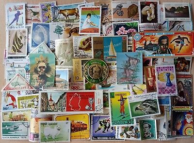 World wide Postage Stamps-500 All Different, Large & Small from over 40 Country