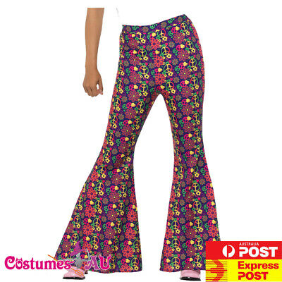 Psychedelic Hippie Chick Costume Music Legs 70779